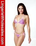 "Ladies ""sexy"" Pink Swimwear Pretty em Heart Pattern String Bikini"