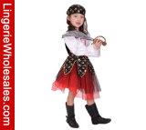 Kostuum van het Kostuum van Cosplay van de Piraat van ongehoorzaam Halloween van Meisjes het Verblindende
