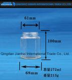bottiglia di vetro di memoria del miele 300ml e dell'alimento