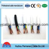Câble imperméable à l'eau en caoutchouc de câble de H07rn-F