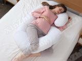 Palier enceinte contourné de reste de maternité de corps formé par C