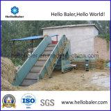 Hola Baler semi horizontal auto hidráulica prensa de balas de paja