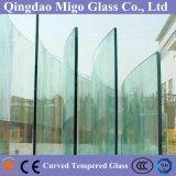 vidro Tempered curvado quente de 6mm para a balaustrada do edifício