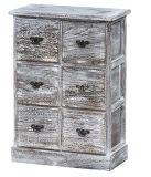 Gabinete de madeira ereto antigo do projeto elegante no tamanho personalizado