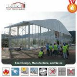 alluminio di figura della cupola di larghezza di 40m e tenda del blocco per grafici del PVC con altezza laterale di 8m per la mostra e gli eventi esterni