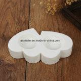 Supporto di ceramica bianco di Tealight della decorazione di giorno del biglietto di S. Valentino (CC-09)