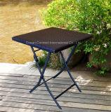 Tavola rotonda del patio dei bistrot esterni della mobilia