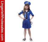 Der Halloween-Partei-Kleid-Kinder des Mädchens Polizeibeamte-Rollen-Spiel-Kostüm