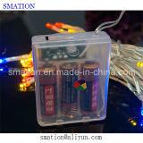LED festiva de la batería al aire libre de Navidad Cadena centelleo Operado Luces de Navidad