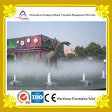 Fontaine laminaire de gicleur avec les statues animales