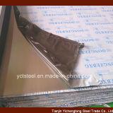 Feuille en acier inoxydable avec protection papier