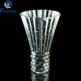 Vaso di vetro galvanizzato variopinto saltato fatto a mano