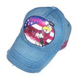 Gorra de béisbol lavada venta caliente con la insignia delantera Gjwd1746