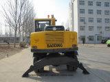 中国の工場供給Bd95の0.3m3バケツが付いている小さい車輪の掘削機