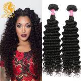 Волосы Weave бразильских волос девственницы глубокие сотка естественный цвет