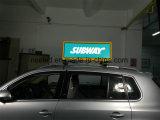 Schermo trasparente WiFi gestito per le automobili, tassì di RGB dello schermo del LED che fa pubblicità allo schermo