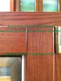 Ventana del marco de madera de roble de América para los clientes de California los E.E.U.U.