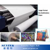 Gran Formato 192GSM inyección de tinta Papel de transferencia de calor de color oscuro Tela