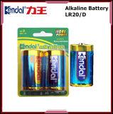 Bateria alcalina do tamanho de Lr20 D