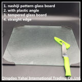4mm Nashiji Pattern Glass Placemat mit Plastic Angle