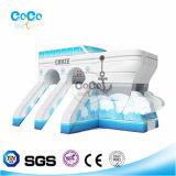 Cocowater 디자인 바다 주제 팽창식 배 활주 LG9001