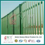 Clôture en acier de palissade galvanisée par usine d'Anping/palissade clôturant la frontière de sécurité de type de W