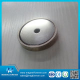 Ímã de pote de base redonda magnética de 35 lbs com caixa de metal