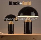 호텔을%s Vico Magistretti 기하학 청동 색깔 금속 버섯 테이블 램프