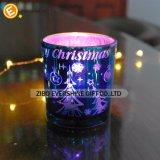 De gekleurde Houder van de Kaars van het Glas van Kerstmis