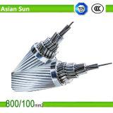 Conducteur renforcé par acier en aluminium supplémentaire normal ACSR de conducteur d'ASTM