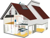 Pressure faible Solar Water Heater avec Assistance/Feeding Tank/Back-up Tank (Obey votre image)