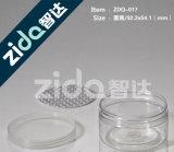 Latte di plastica della radura del commestibile con i coperchi di alluminio aperti facili