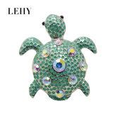 Anello Silver-Tone dello smalto di modo dei monili di pietra rotondi blu del Tortoise