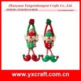 Elfe de Noël de jouet bourré par clown de Noël de la décoration de Noël (ZY14Y512-1-2) sur l'étagère