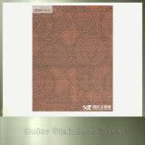 Diseños inoxidables plateados cobre de clase superior del revestimiento de la pared de la hoja de acero para la decoración