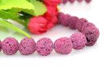 자연적인 분홍색 용암 돌 크기 6 8 10 12 14 16mm 느슨한 자연적인 화산 돌