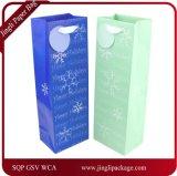 Saco de presente de papel de garrafa de vinho do País das maravilhas do inverno Saco de papel de Daliy Gift Bag