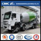 HOWO 8 * 4 Camión mezclador de concreto con CIMC Huajun mezclador