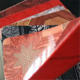 Suelo de PVC no tejido rojo