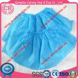 Non-Woven青い靴カバー使い捨て可能な靴カバー