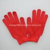 Перчатки 7/10 отбеленные датчиком белые поставленные точки PVC хлопков управляя полезная перчатка работы