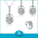 Girls (J-0110)를 위한 유일한 Engagement 925 Sterling Silver Jewelry Set