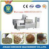 Tipo molhado máquina do parafuso dobro do secador da extrusora da alimentação dos peixes
