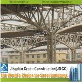 Станция стадиона и структура тени выставки стальная
