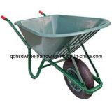 Wheelbarrows plásticos do jardim do carrinho de mão de roda da bandeja (WB6414A)