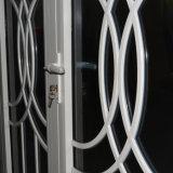 زجاج مزدوجة مع شبكة, بيضاء لون مسحوق يكسى [نون-ثرمل] كسر ألومنيوم قطاع جانبيّ شباك باب [كز038]