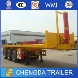 3 Radachsen 40FT Container Trailer, Hydraulic Flatbed Tipper Container Trailer