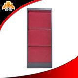 Cabina de fichero vertical multi moderna del metal de 3 cajones