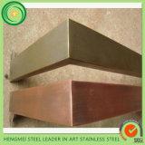 rayita de bronce del acero inoxidable del color de 304 201 PVD de las empresas de la construcción