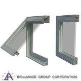 Ventana esmaltada doble del toldo de la ventana del toldo/ventana de aluminio